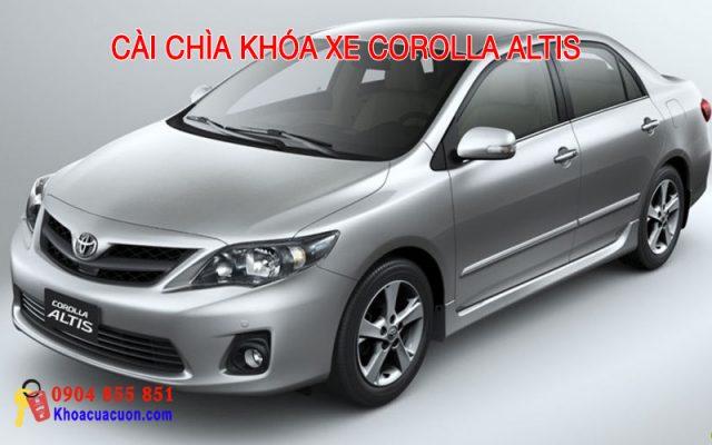 Hướng dẫn cài chìa khóa xe ô tô Corolla Altis