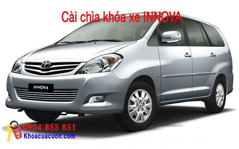 Hướng dẫn cài chìa khóa xe ô tô Innova