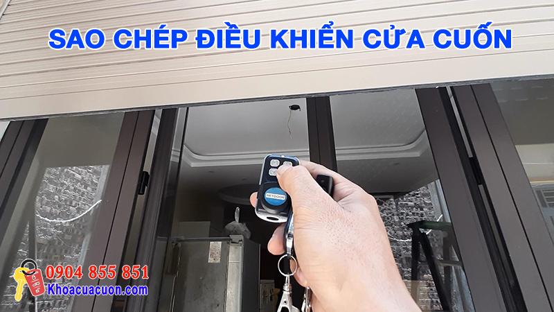 Xóa mã và sao chép điều khiển cửa cuốn Long Biên